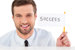 man stating about success